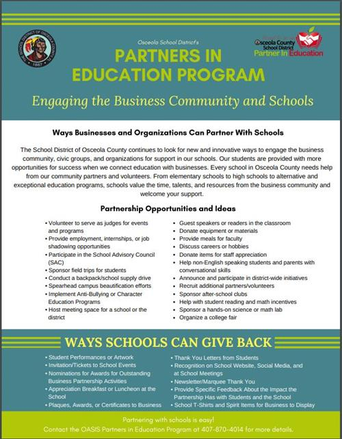 Partners in Ed Flyer