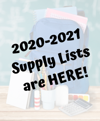 2020-2021 Supply Lists are Here