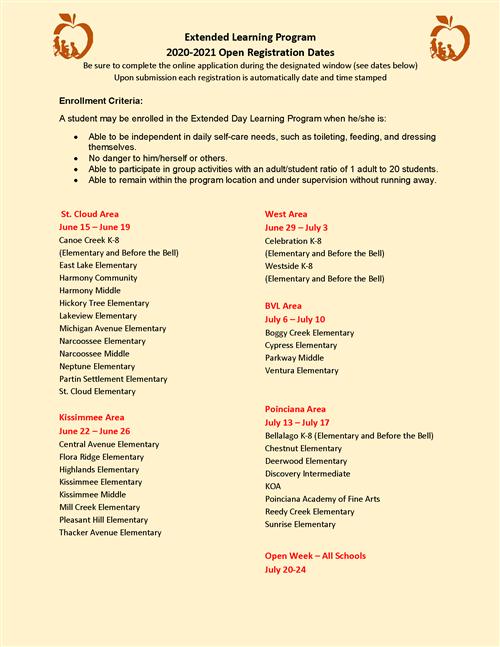 2020-2021 Registration Information