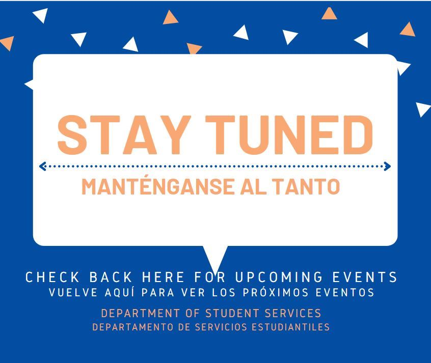 Stay tuned/Manténganse al tanto