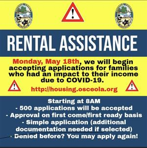 Rental Assistance Flyer for those affected by Covid-19