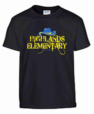 Get your 2020-2021 Highlands Elementary T-Shirts to show your Highlands PRIDE! We have the variety
