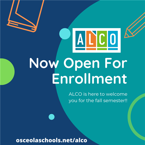 Open Enrollment for ALCO Fall Semester