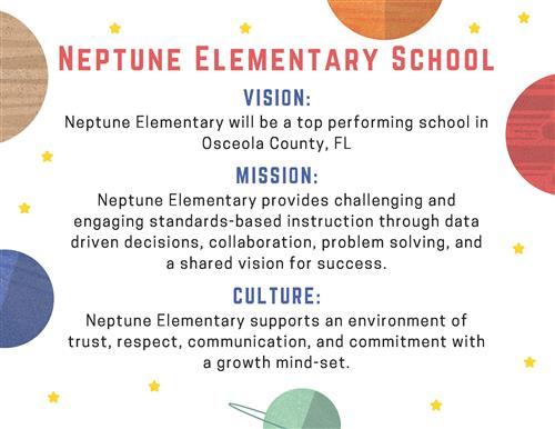 Neptune Elementary's Vision, Mission, and School Culture
