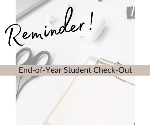 End of Year Check Out