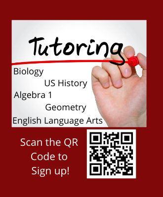 Someone writing the word tutoring