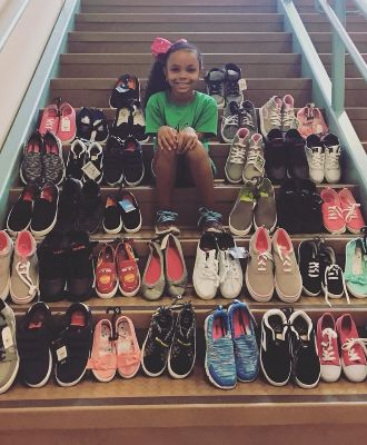 Second Grade Student Launches Shoe Drive At Narcoossee Elementary