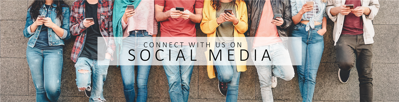 Conncet with us on Social Media
